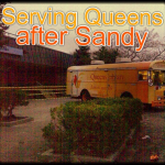 When Superstorm Sandy struck Queens, Queens Library staff were scattered across the region, each doing their part to stay safe and help the community. Four Queens Libraries were badly damaged by the storm; yet within hours, we were serving the community from mobile buses and temporary facilities. A sign of hope and recovery, this picture quickly spread across the country and internationally.