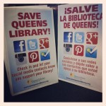 These are signs I worked with designers and our Spanish Media Manager to create for an advocacy campaign urging the community to speak out against NYC's proposed cuts to Queens Library's funding.
