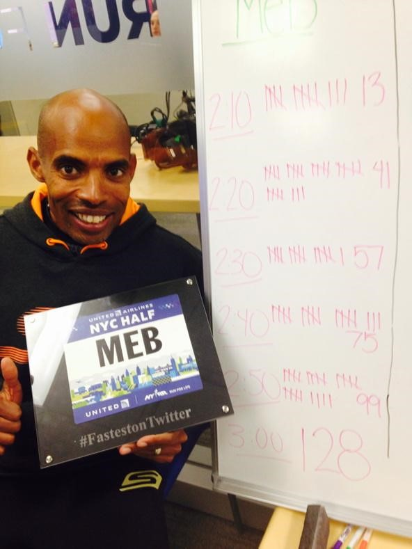 Fastest on Twitter with @RunMeb